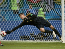 Courtois pode aterrizar no Bernabéu. AFP