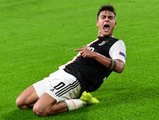 Juve ganha com gol de Dybala. AFP