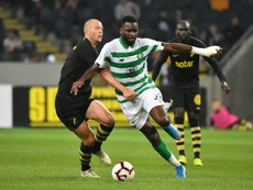 Edouard in action for Celtic. AFP