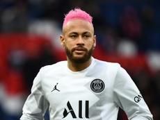 Neymar não se recuperou a tempo do duelo contra o Dijon. AFP
