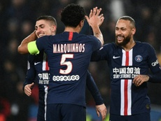 Verratti espera que Neymar y Mbappé sigan a su lado muchos años más. AFP