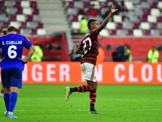 Bruno Henrique será desfalque no primeiro Fla-Flu da final do Carioca. AFP