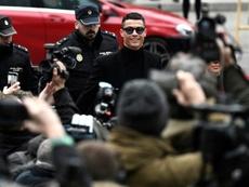 Cristiano y Xabi comparecieron en la Audiencia Provincial de Madrid. AFP