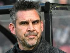 Gourvennec, en la recámara del Olympique de Lyon. AFP