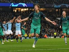 Llorente gave Spurs the decisive goal in their tie against City. AFP