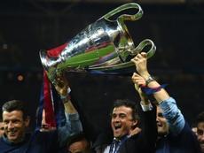 Luis Enrique recordó la Champions de 2015. AFP