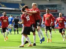 Les Red Devils arrachent une victoire au bout du suspense. AFP
