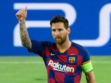 Messi, eufórico tras el pase a cuartos. AFP