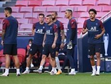 Marco Verratti será duda hasta última hora de cara al duelo con el RB Leipzig. AFP/Archivo