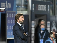 Pirlo in conferenza stampa. AFP