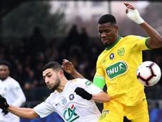 El Nantes se clasificó en el partido aplazado por la desaparición de Sala. AFP