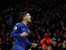 Lampard ne veut pas comparer Pulisic et Hazard. AFP