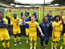 Les compos probables du match de Ligue 1 entre Nantes et Strasbourg. AFP