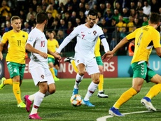 Quatro gols para o craque português. AFP