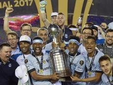 Malos momentos para Gremio Porto Alegre. AFP