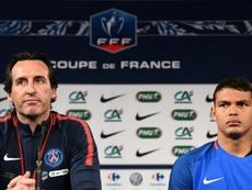 Thiago Silva criticó con dureza al ex entrenador del PSG. AFP