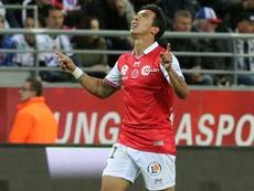Rigonato joga no Reims e também está na seleção do campeonato da 'Ligue 2'. AFP