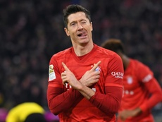 Il bomber polacco del Bayern Lewandowski. AFP