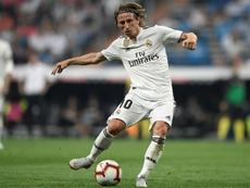 Modric alcanzó los 100 partidos en competiciones europeas. AFP