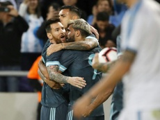Messi rescued Argentina in their 2-2 draw with Uruguay. AFP