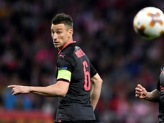 Koscielny appeared to suffer a fresh setback against Portsmouth. AFP
