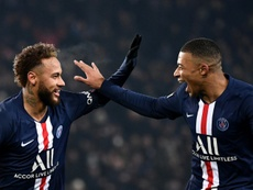 Neymar and Mbappe are good friends at PSG. AFP