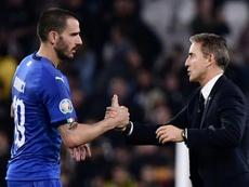 Il difensore e capitano dell'Italia, Bonucci. AFP