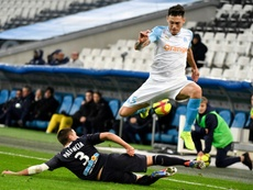 El Olympique venció con lo justo al Girondins. AFP