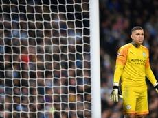Ederson de retour contre Chelsea. AFP