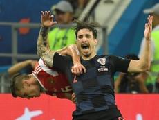 Vrsaljko reapareció tras su dura lesión de rodilla. AFP