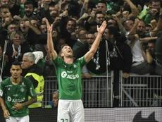Les poignants adieux de Robert Beric à Saint-Étienne. AFP