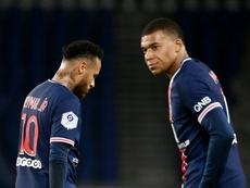 PSG are reportedly thinking of keeping Mbappe and selling Neymar. AFP