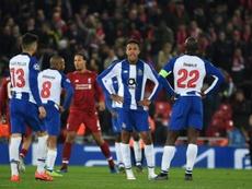O Liverpool recebeu e venceu o FC Porto por duas bolas a zero. AFP