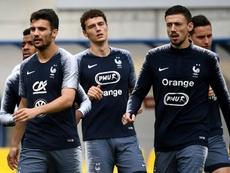 Primeros minutos de Lenglet con 'les bleus'. AFP