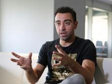 Xavi habló de nuevo del debate entre Madrid y Barça. AFP