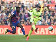 Samuel Umtiti casi no ha jugado últimamente. AFP