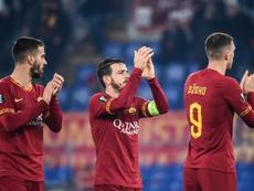 La Roma intentó ganar, pero se topó con un muro al final. AFP