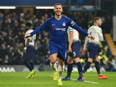 Hazard is the subject of renewed focus from the Spanish giants. AFP