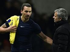 Ibrahimovic salió en defensa de Mourinho. AFP