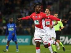 Keita Baldé encarriló la victoria del Mónaco en Copa. AFP
