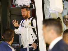 La Argentina de Messi ya está en Tel Aviv. AFP