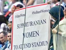 La polémica por la discriminación hacia la mujer en Irán ha llegado a la FIFA. AFP/Archivo