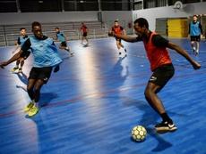 L'équipe de France de futsal dispute le premier Euro de son histoire. AFP
