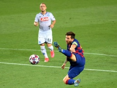 Messi solo tiene un fuerte golpe y estará perfecto para el duelo frente al Bayern. AFP