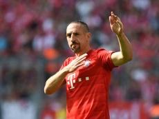 Bayern Munich's French midfielder Le duo Arjen Robben-Franck Ribéry a fait les beaux jours du Bayern Munich, comme ici lors de la réception de Leverkusen, le 18 août 2017