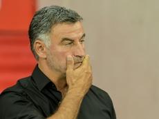 Galtier revient sur le nul de son équipe. AFP