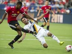 Lukaku lideró la victoria del Manchester ante el Real Salt Lake. AFP
