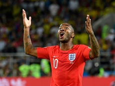 Sterling was elated to beat the Colombian side on Tuesday. AFP