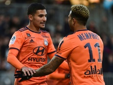 Memphis Depay et Houssem Aouar ont parlé de leur avenir. AFP