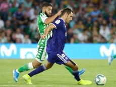 El Betis, descontento con el arbitraje. AFP